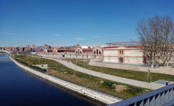 Matadero Madrid, vistas desde Usera