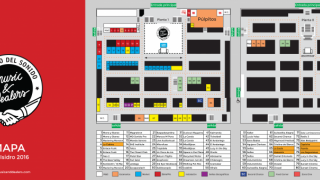 Music And Dealers San Isidro 2016, mapa o plano de zonas mercado de la cebada