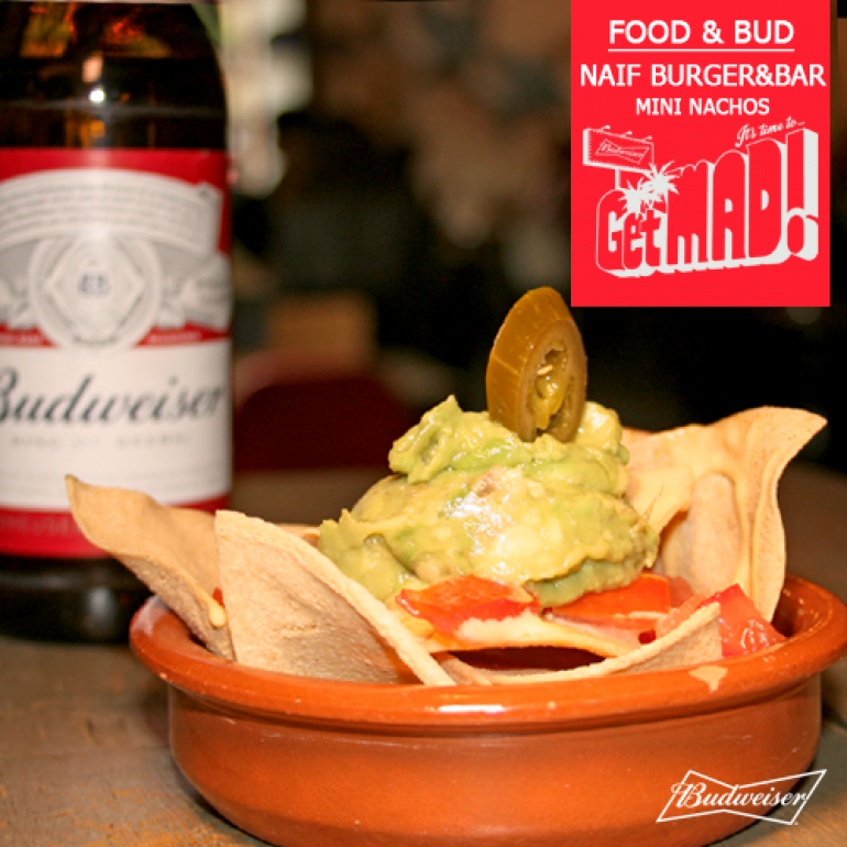 Festival Food&Bud 2016,  Naif Madrid, Mini Nachos + botellín